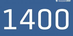 Radar de Projetos - Marco 1.400 Projetos