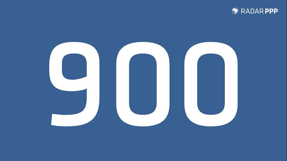 Radar PPP celebra marca de 900 projetos monitorados.