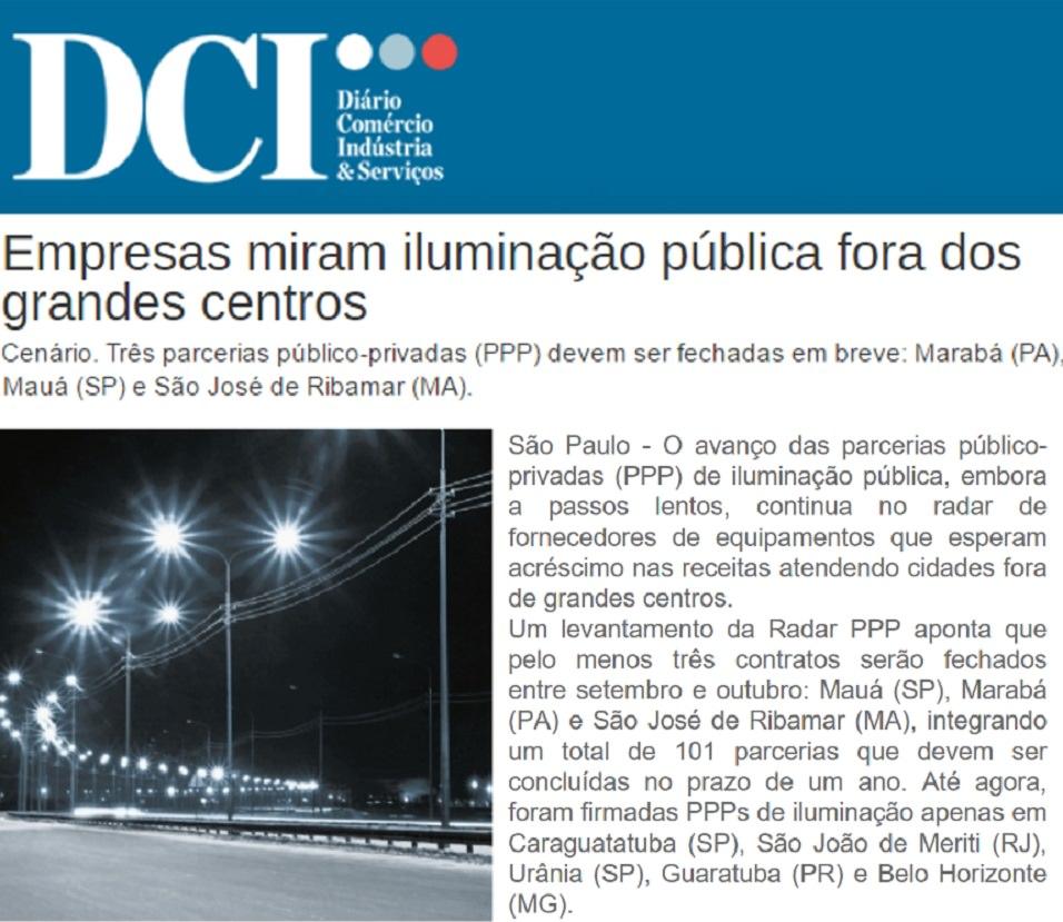 Radar PPP fornece dados sobre mercado de PPP de Iluminação Pública ao DCI