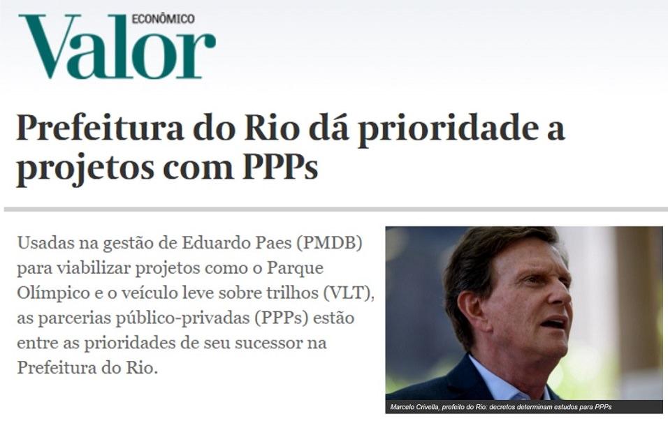 As PPPs seguirão tendo espaço no Rio de Janeiro durante a próxima gestão