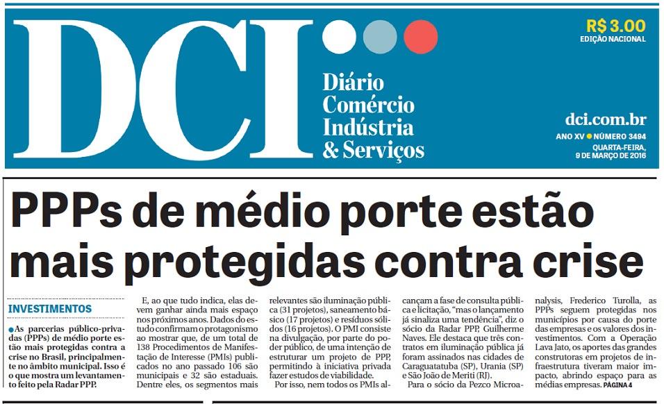 Radar PPP na manchete de capa do DCI