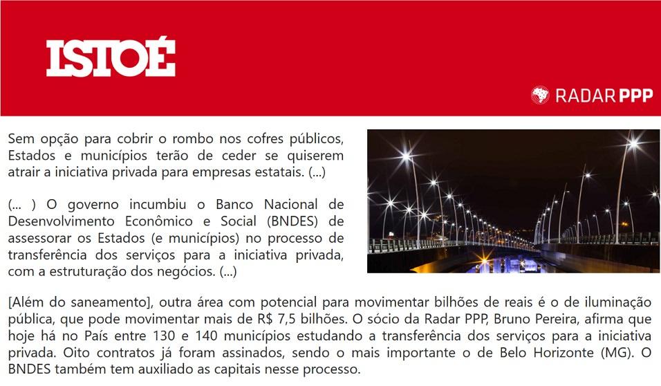 Atuação do BNDES no mercado de PPPs e concessões é destaque na Revista IstoÉ
