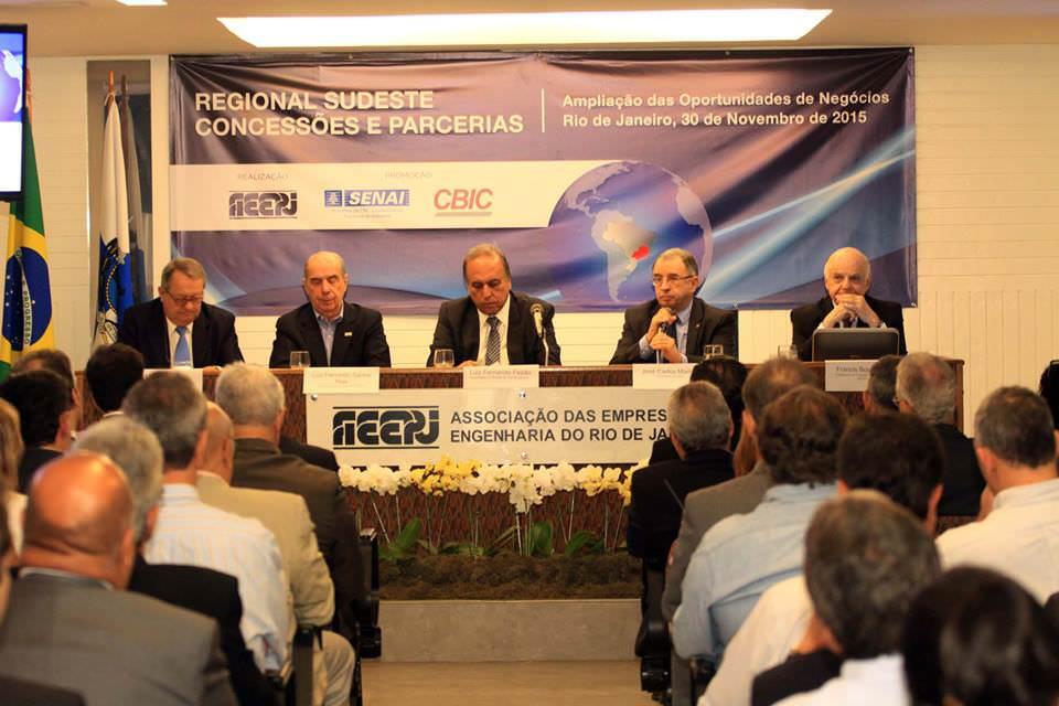 AEERJ, CBIC, Radar PPP fazem evento sobre PPP no Rio de Janeiro com a Presença do Governador Luiz Fernando Pezão