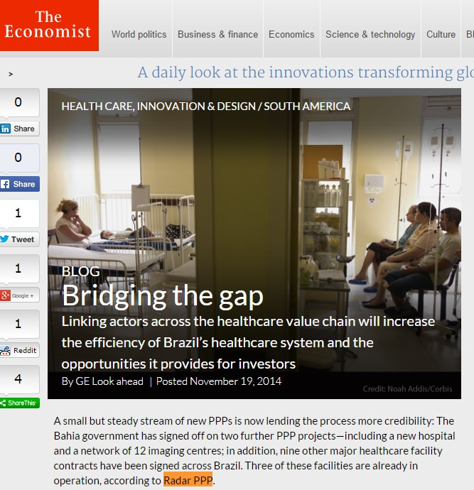 Imagem na notícia The Economist - Infraestrutura em Saúde no Brasil - The Economist 30/11/2014