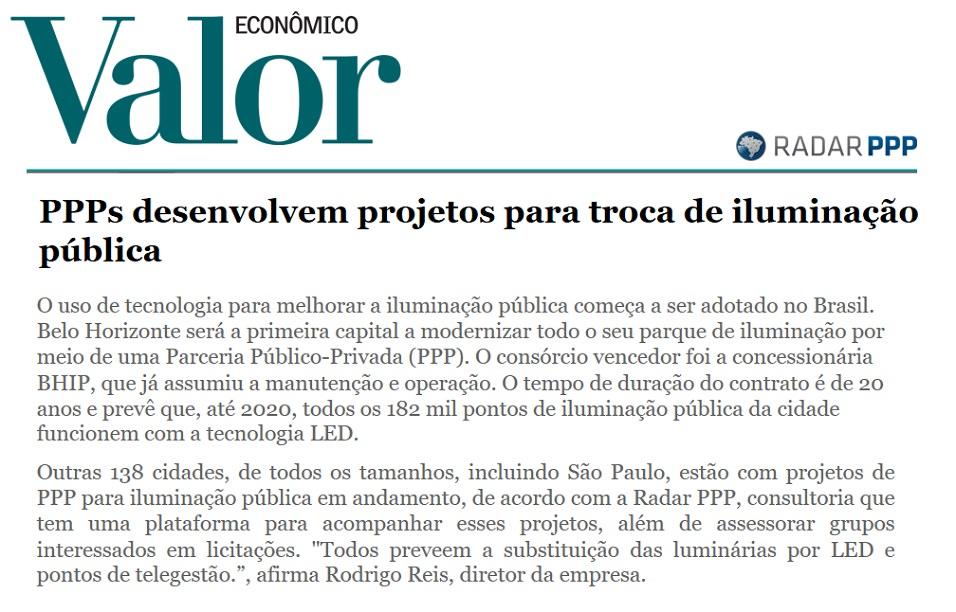 Parcerias Público-Privadas de Iluminação Pública vão se espalhando pelo Brasil